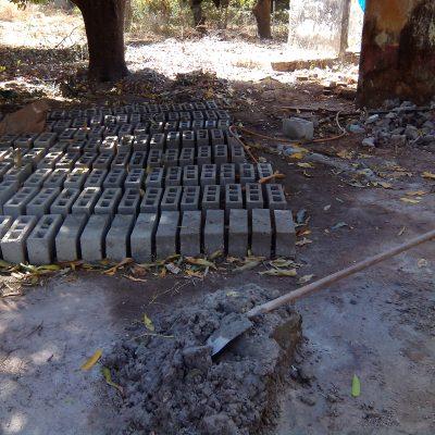 Fabrication des blocs de béton